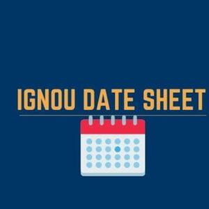 Download IGNOU date sheet June 2021(BAG,BCOMG,M.COM)