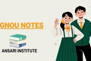 ignou notes